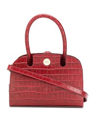 Manu Atelier Crocodile Effect Mini Tote Red
