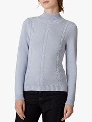 Jaeger Cable Knit Wool Jumper Blue