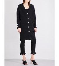 Maje Marie Knitted Cardigan Black