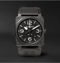 Bell And Ross Br 03 92 42Mm Ceramic Rubber Watch Ref. No. Br0392 Bl Ce Black