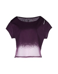 Reebok T Shirts Deep Purple