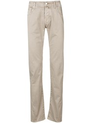 Jacob Cohen Slim Fit Jeans Neutrals