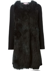 Giamba Faux Fur Coat Black