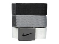 Nike 3 Web Pack Black White Grey Belts