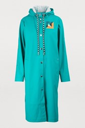 Proenza Schouler Hooded Raincoat 00508 Teal