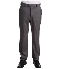 Perry Ellis Modern Fit Flat Front Bengaline Pant Fog Heather Men's Dress Pants White