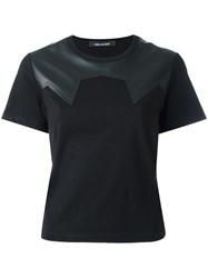 Neil Barrett Paneled T Shirt Black