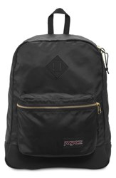 Jansport Super Fx Gym Backpack Black Black Gold
