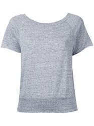 Estnation Relaxed Fit T Shirt Women Cotton 38 Grey
