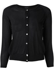 Roberto Collina Fitted Round Neck Cardigan Women Polyester Viscose L Black
