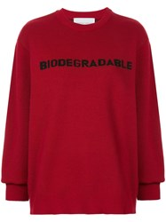 Strateas Carlucci 'Biodegradable' Knit Sweater Red