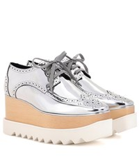 Stella Mccartney Elyse Metallic Loafers Silver