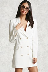 Forever 21 Double Breasted Blazer Cream Onerror Javascript Fnremovedom 'Colorid_02
