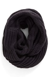 Women's Bp. Cable Knit Infinity Scarf Charcoal