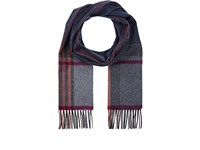 Colombo Women's Plaid Cashmere Flannel Scarf Grey