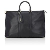 T. Anthony Men's Large Weekender Tote Black Blue Black Blue
