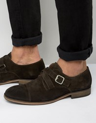 Selected Homme Bolton Suede Monk Shoes Brown