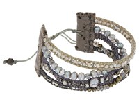 Chan Luu 7' Multi Strand Grey Mix Single With Fresh Water Pearls Swarovski Crystals And Nylon Cord Bracelet Grey Mix Natural Grey Bracelet Gray