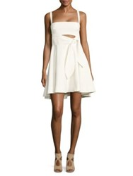 Cinq A Sept Nyma Tie Waist Fit And Flare Dress Ivory