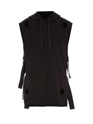 Damir Doma Cut Out Detail Sleeveless Hooded Sweater Black