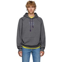 Acne Studios Grey Fenton Video Print Hoodie