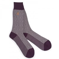 London Sock Company Jaquard Bordeaux
