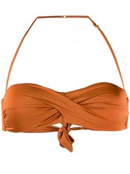 Mc2 Saint Barth Twist Bandeau Bikini Top Orange