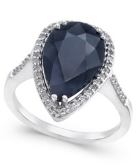 Macy's Black Sapphire 6 Ct. T.W. And White Topaz 1 4 Ct. T.W. Ring In Sterling Silver