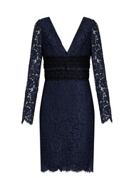 Diane Von Furstenberg Viera Dress Navy