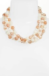 Simon Sebbag Pearl And Stone Necklace Pink White Silver