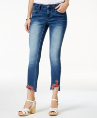 Rampage Juniors' Embroidered Skinny Jeans Lakes