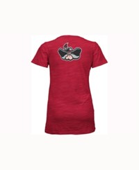 Pressbox Women's Unlv Runnin' Rebels Gander V Neck T Shirt Red