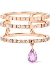 Diane Kordas Triple 18 Karat Rose Gold