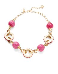 Kate Spade Second Nature Statement Collar Necklace Pink