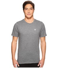 Hurley Icon Dri Fit Tee Charcoal Heather Men's T Shirt Gray