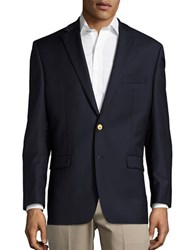 Lauren Ralph Lauren Two Button Wool Blazer Navy