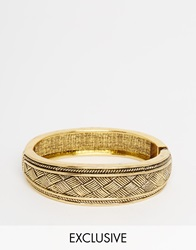 Designsix Antique Gold Cuff Bracelet