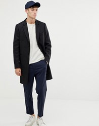 Paul Smith Ps Epsom Wool Cashmere Overcoat In Charcoal Grey