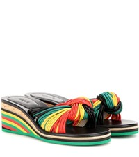 Chloe Jody Leather Wedge Sandals Multicoloured