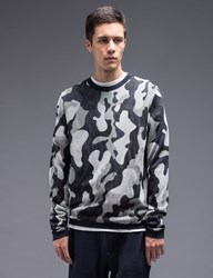 Ymc Camo Crewneck Knit Sweater