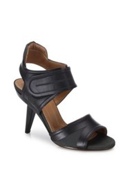 Marni Grip Tape Leather Sandals Black