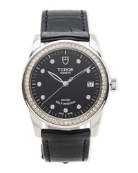 Classic Tudor Ladies' Glamour Diamond Watch Nm Watch Collection By Crown And Caliber