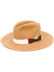 Nick Fouquet Bow Detail Hat Brown