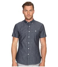 Todd Snyder Short Sleeve Chambray Button Up Indigo Men's Short Sleeve Button Up Blue