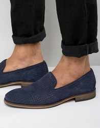 Selected Homme Bolton Perforated Loafers Navy