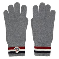 Moncler Navy Wool Corporate Gloves