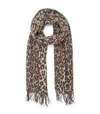 Reiss Abby Leopard Print Scarf In Natural