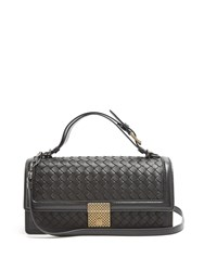 Bottega Veneta Intrecciato Woven Leather Bag Black