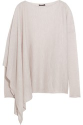 Donna Karan New York Asymmetric Cashmere Sweater Beige