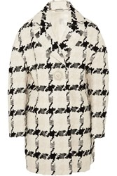 Alexander Mcqueen Houndstooth Tweed Coat Ivory